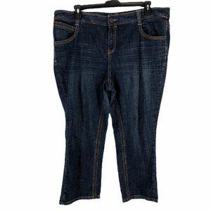 Lane Bryant Womens Stretch Straight Jeans Size 20